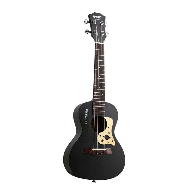 Bws Est & 1988 23 Inch Concert Ukulele Black Starry Sky 4 Strings Hawaiian Mini Guitar Uku Acoustic Guitar Ukulele Mahogany Part