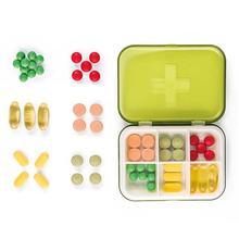 6 Grids Portable Mini Pill Case Non-toxic Medicine Tablet Box Dispenser Organizer Splitters