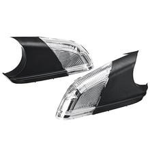 Car Rearview Mirror Side Wing Mirror LED Turn Signal Light for Skoda Octavia MK2 A5 2004-2008 1Z0949101C 1Z0949102C