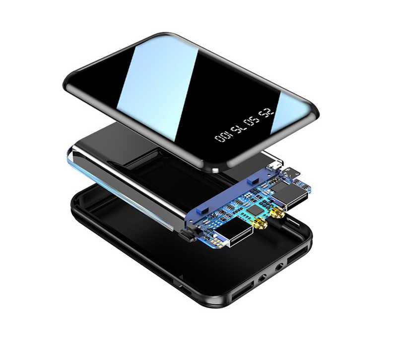 Mini 20000mAh banco de potencia de carga USB cargador portátil batería externa para Xiaomi mi iPhone 11 pro Samsung S8 Poverbank