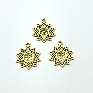 Image 2 - 20pcs charm Saudi Arabia national emblem Muslim box pendant for jewelry making DIY handmade bracelet necklace pendant