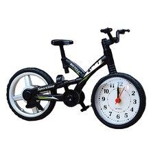 Reloj despertador con alarma de casa estilo Vintage con forma de bicicleta de plástico para niños, decoración de escritorio para niños, dormitorio, oficina, silencio