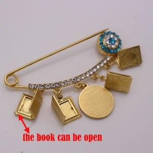 Image 4 - muslim islam Allah Koran book AYATUL KURSI Stainless Steel brooch Baby Pin