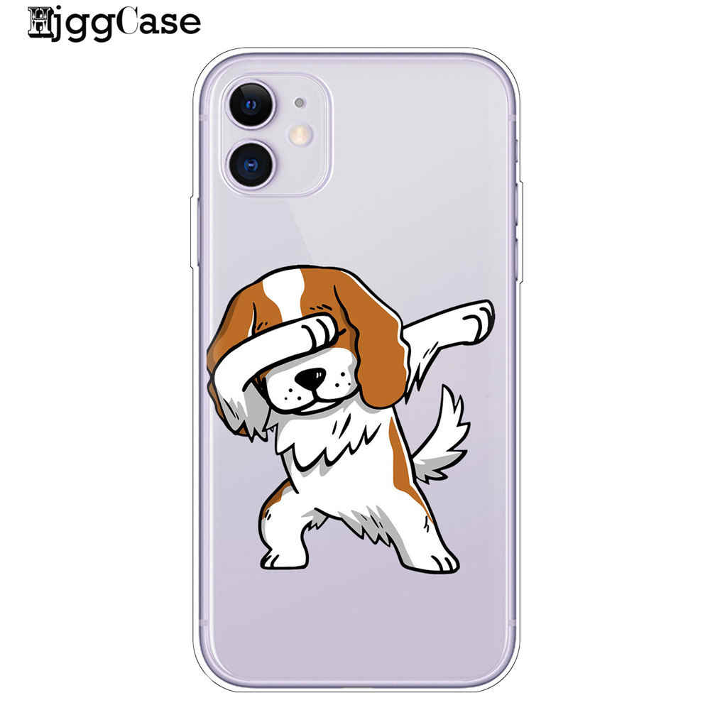 Cassa del telefono Per il iPhone di Apple 11 Pro Max X XR XS MAX 8 7 6S 6 Plu 5S SE cute Pug Bulldog Francese del Silicone Molle di TPU Caso Della Copertura Posteriore