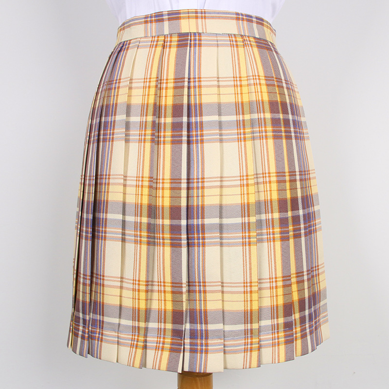 Japanese Korea Skirt New Spring Women High Waist Pleated Skirt Japanese Korean School Girls Plaid Skirt Uniform Student Skirts