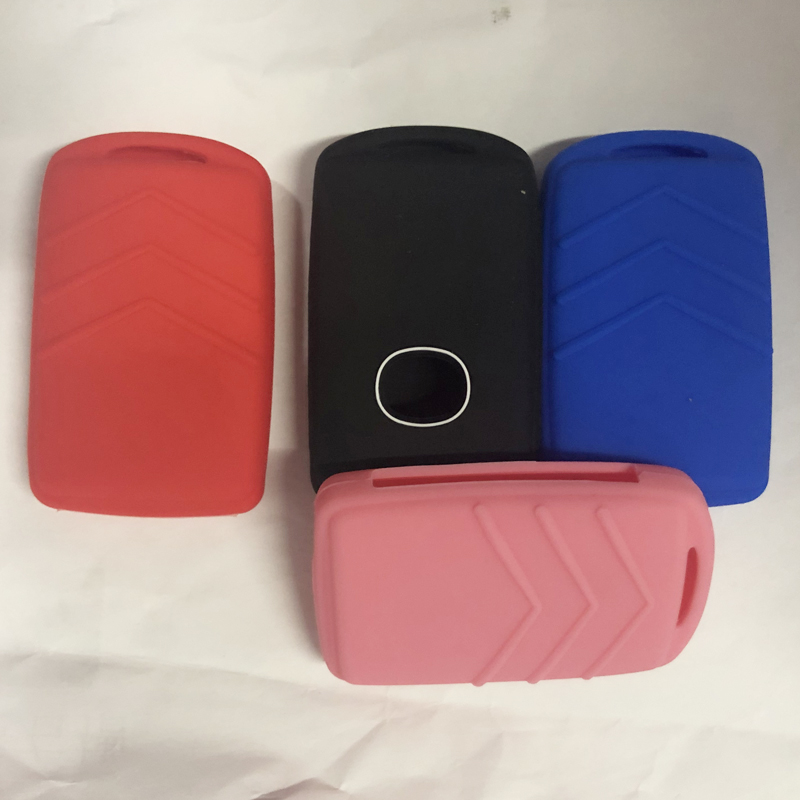 Jingyuqin 30pcs Silicone Car Remote Key Case Cover For For Mazda 3 Alexa CX4 CX5 CX8 2019 2020 3Button Smart Remote Car Key