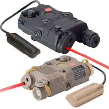 Red Dot Laser White LED Flashlight Battery Case Box Hunting Rifle Accessories Night Vision for Standard 20mm Rail Holder