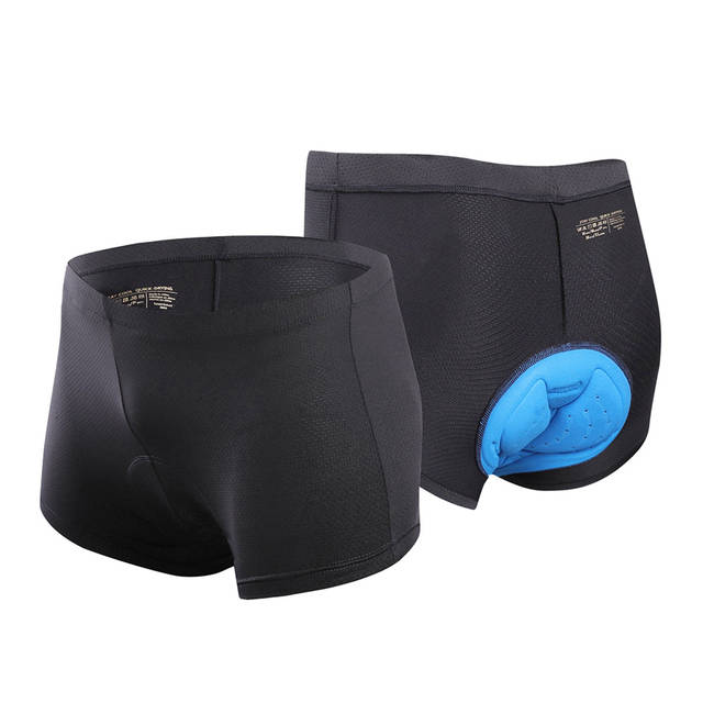 Arsuxeo Cycling Riding Black Mesh Padded Mens Underwear Boxer Size Medium