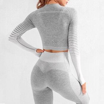 Seamless Long Sleeve Yoga Set