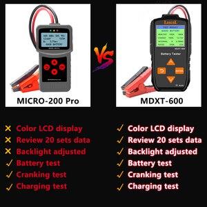 Image 5 - Lancol MDXT600 12 فولت سيارة جهاز اختبار بطارية TFT LCD شاشة 40 2000 CCA السيارات المولد تستر الرقمية السيارات مُحلل بطارية