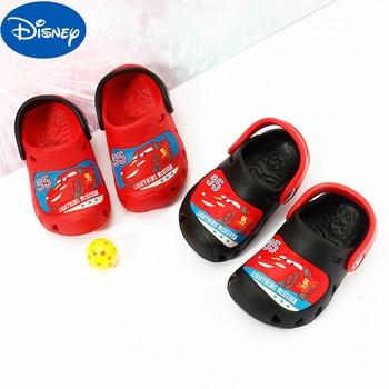 Original Disney Cars Summer Sandals For Children Car Story Cartoon Slippers Baby Soft Bottom Non-slip CE18