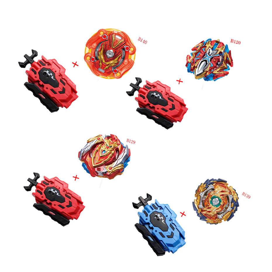 Original Spinning Top <font><b>Beyblade</b></font> <font><b>BURST</b></font> B140 <font><b>B139</b></font> With Launcher Bayblade Bey blade Metal Plastic Fusion 4D Gift Toys For Children image