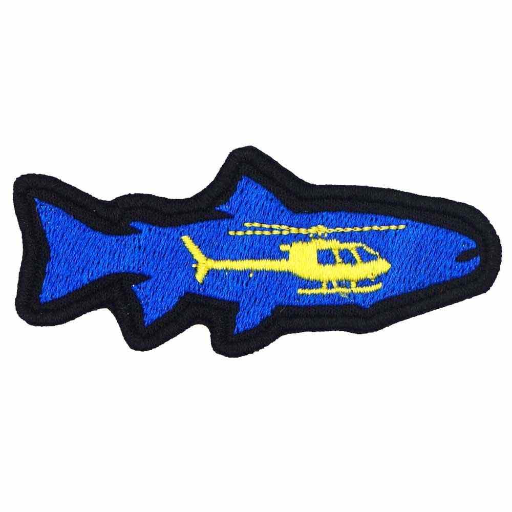 상어 헬리콥터 패치 수 놓은 applique 봉 제 레이블 펑크 바이 커 패치에 철 백업