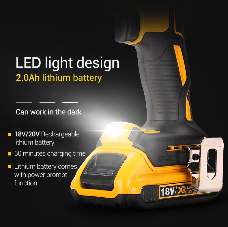 LED light design of DEWALT Electric Screwdriver