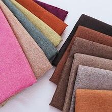 Tessuto di lino solido materiale morbido durevole di trasporto libero per cucire fai da te 50*70cm/50*145cm