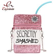 Cekiny Fashion Box wyszywany wzór Pu skórzany damski łańcuszek torebka na ramię torebka Crossbody torebka na dziewczęcą kopertówkę