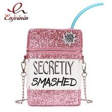 الترتر صندوق الموضة المطرزة تصميم بولي Leather الجلود سلسلة نسائية محفظة حقيبة كتف حقيبة كروسبودي حقيبة يد لفتاة حقيبة صغيرة