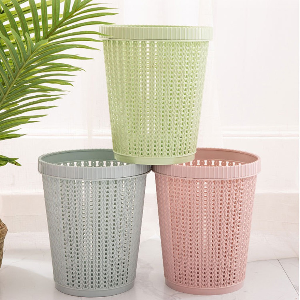Creative Living Room Bedroom Trash Can Debris Storage Hollow Store Garbage Bags Kitchen Home Trash Can