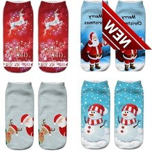 1pair Xmas Socks New Fashion 3d Printed Sock For Unisex Kids Boys And Girls Happy Christmas Funny Ankle Cute Deer Baby Boy Gift