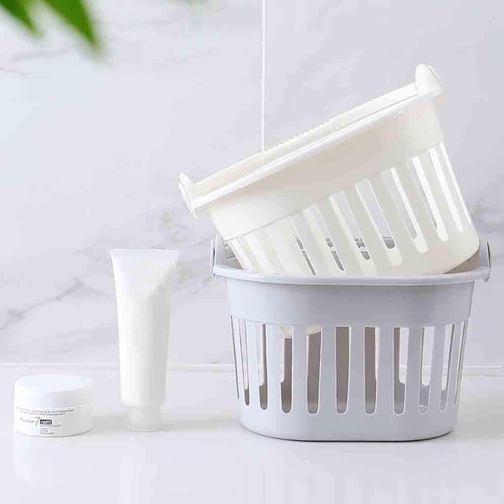Tragbare Bad Wäsche Korb Bad Pflegespeicher Box Halter Organizer 19,5x12,5x15 cm Lagerung Korb DropShipping