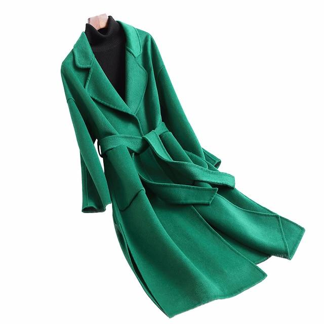 2019 long double cachemire hiver manteau femmes mince laine veste automne et hiver nouveauté 6 couleurs