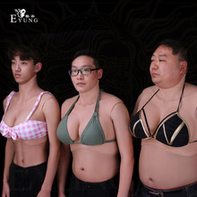 Top Technology Fake boobs Artificial Silicone Breast Forms For Shemale Trandsgender Crossdresser Drag Queen Cosplay Cotton Fill(China)