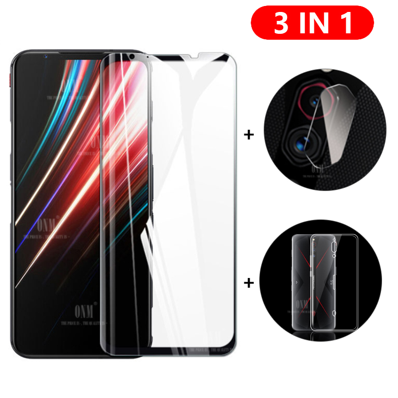 3-in-1 Glass + Case For ZTE nubia Red Magic 5G Screen Protector Tempered Glass for ZTE nubia Red Magic 5G Camera Protector Glass(China)