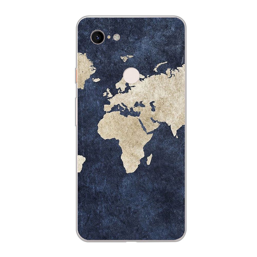 Case Travel Map Coque For Google Pixel 3 XL 2 XL 3A XL 4 XL Soft TPU Phone Cases For Pixel 2XL 3XL 4XL 3Axl Cover Funda
