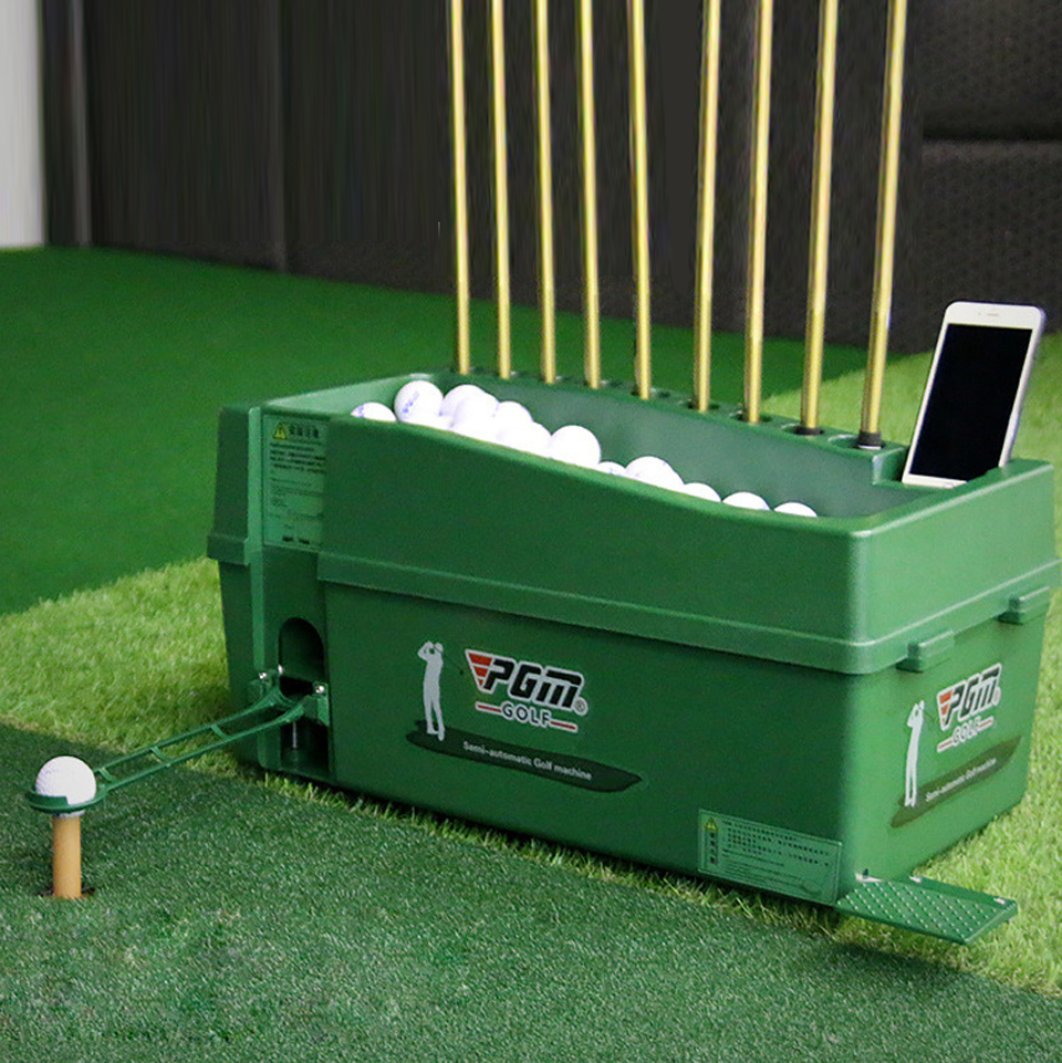 Multi-function Semi-automatic Golf Ball Machine Indoor Outdoor Training 100 Golf Ball Dispenser 9 Golf Clubs Holes ABS Material