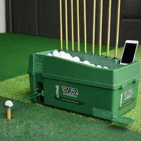 Multi function Semi automatic Golf Ball Machine Indoor Outdoor Training 100 Golf Ball Dispenser 9 Golf Clubs Holes ABS Material
