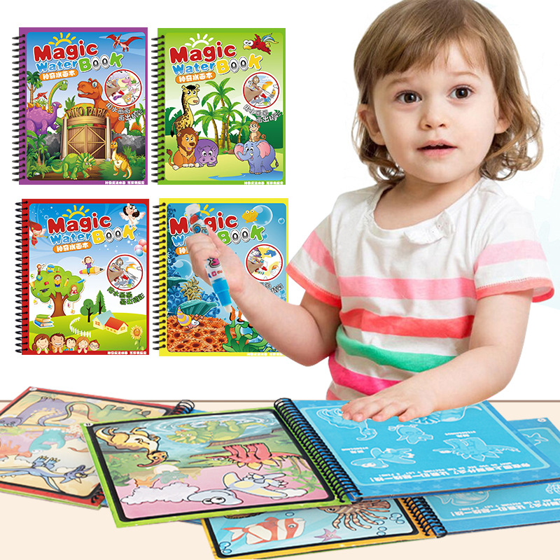 Magic Children Water Drawing Book Water Album Of Painting Graffiti Environmentally Friendly Educational Fun Water Drawing Book