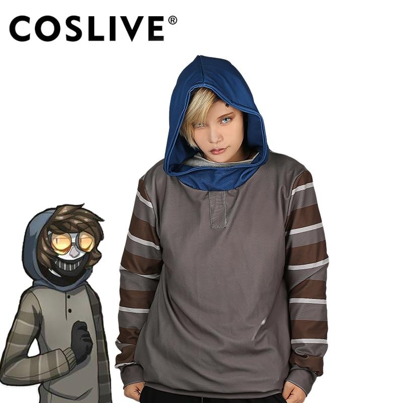 Coslive Hot Selling Ticci Toby Hoodie Pullover Sweatshirt Top Shirt Cosplay Costume Coat Cosplay Hoodie Unsex Comfortable