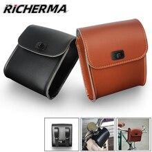 Leather Motorcycle Bag Waterproof Tank Bag Top Case Motorcycle Tool Side Bag For Vespa gts 300 Shadow vt750 Motorbike Bike Bags