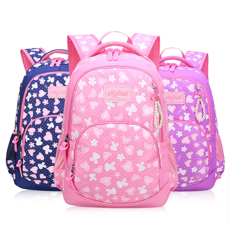 New Style Schoolbag For Elementary School Students Men And Women Children 1-3-6 Grade Burden Relieving Backpack 6-12 A Year Of A