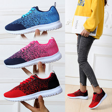 Spring Sneakers Women Flats Shoes Woman Mesh Breathable Casual Mixed Color Lace-Up Ladies Shoes Zapatos De Mujer Plus Size 35-43 2020 summer new women shoes fashion sneakers mesh breathable flats shoes woman lace up shallow zapatos de mujer ladies shoes