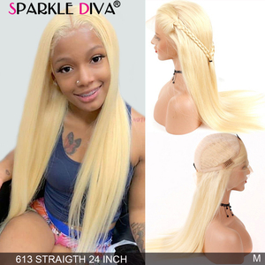 Glueless 613 Blonde Lace Front Human Hair Wigs Brazilian Straight Lace Front Wig 8''-24'' Remy 13X4 Honey Blonde Lace Wigs 150%(China)