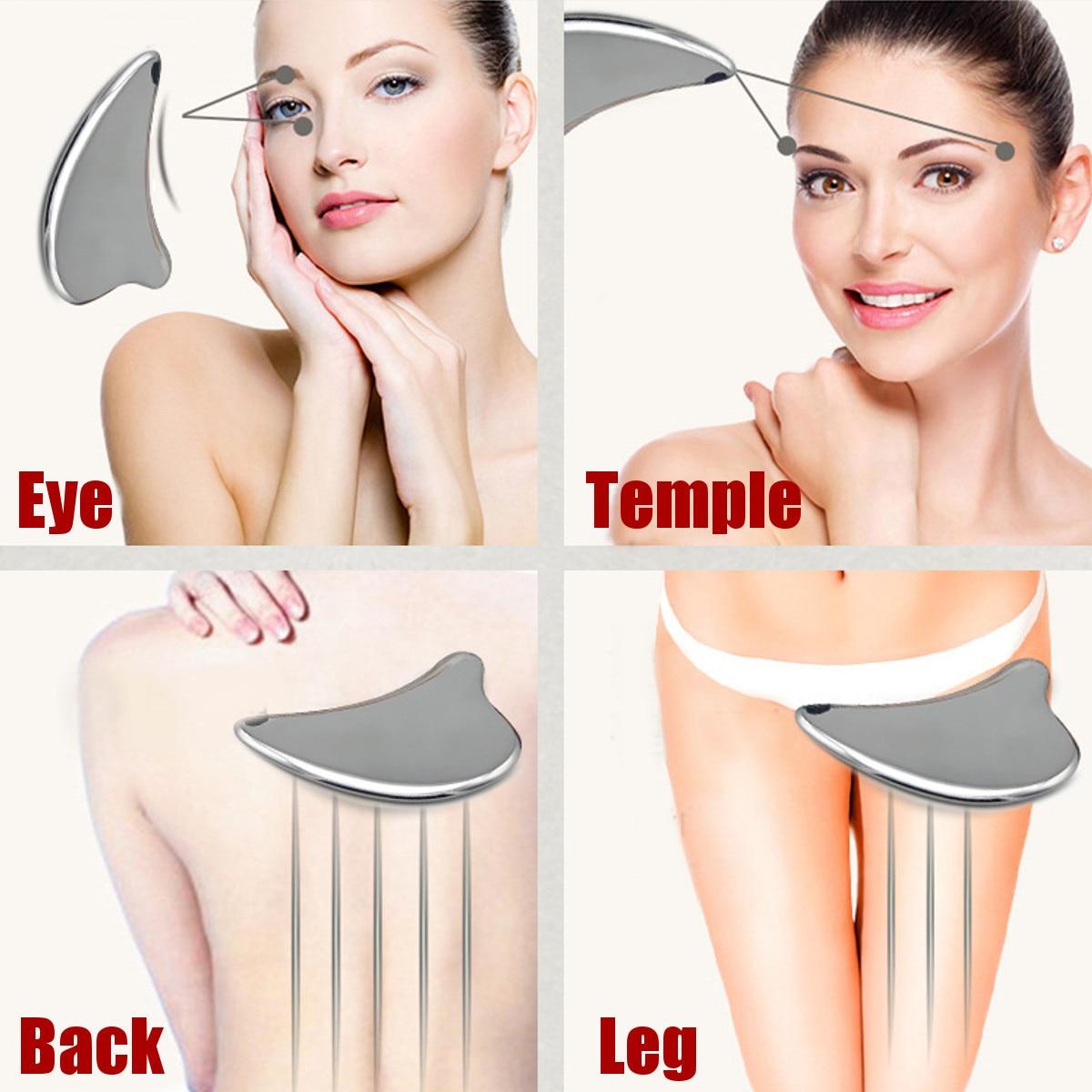 304 ze stali nierdzewnej Gua Sha Guasha narzędzie do masażu skrobak fizykoterapia luźne mięśni Meridian urządzenie do masażu SPA pokładzie narzędzie