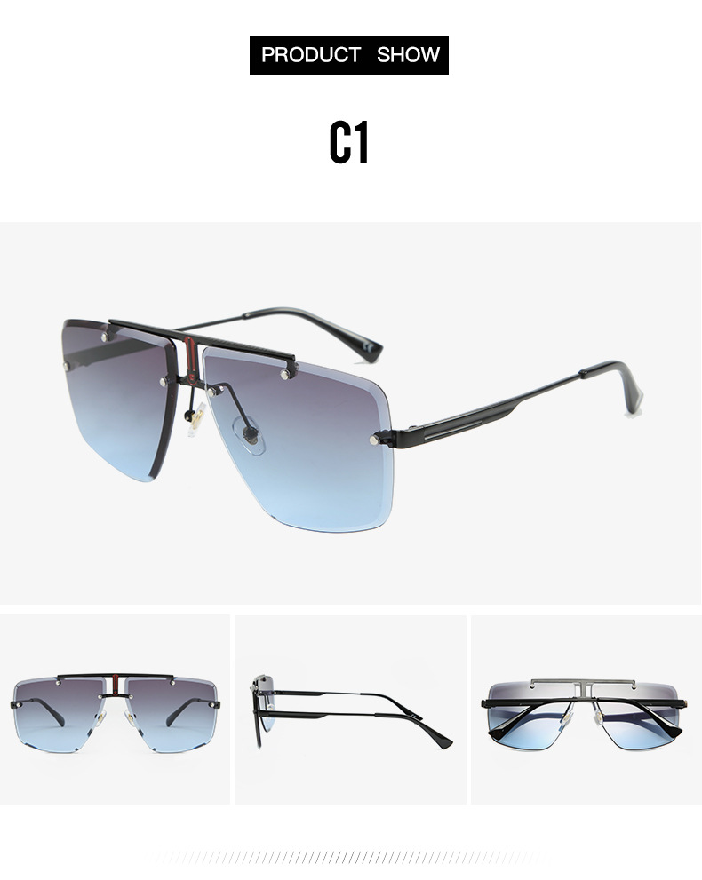 H1d4a1f3808b946dc882e8d8e5b34793dt - Square Rimless Sunglasses Men Summer New Fashion Sun Glasses Fashion Luxury Brand Shades for Women UV400 zonnebril Eyewear
