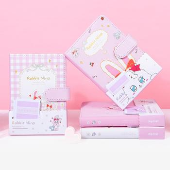 Rabbit Nina Faux Leather Cover Journal Diary Cute Notebook Notepad Girls Planner Stationery Gift