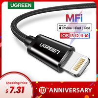 Ugreen mfi cabo usb para iphone 11 pro x xs 8 2.4a carregamento rápido relâmpago cabo para iphone 6 cabo de dados usb telefone carregador cabo|usb cable for iphone|cable for|charging cord -