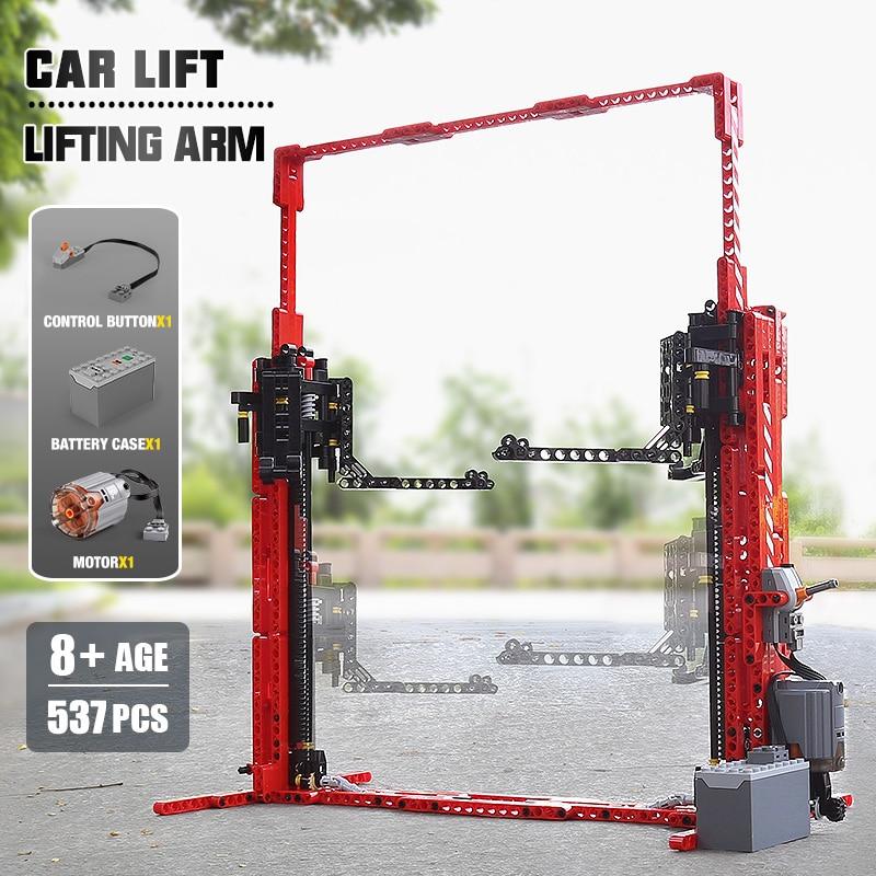 MOULD KING 13053 High-Tech Toys The APP RC Motorized Car Lift Model Building Blocks