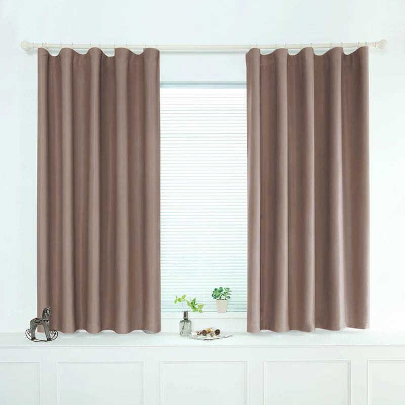 ENHAO Moderne Kurze Vorhänge Für Küche Fenster Vorhang Für Wohnzimmer Schlafzimmer Feste Tuch Vorhänge Fenster Behandlung Wohnkultur