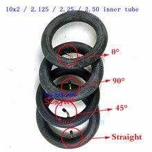 Tubo interno de 10x2/2.125/2,25/2,50 con válvula curvada/recta para triciclo, 3 cochecito de ruedas para niños, patinete de 10