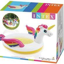 Inflatable unicorn swimming pool with Intex sprayer 57441NP