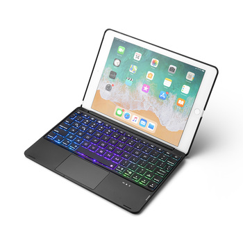 цена на Portable Smart Bluetooth Keyboard Cases for Apple iPad Air Pro 9.7 inch Tablet Case Cover with Keyboard LED Backlight Touchpad