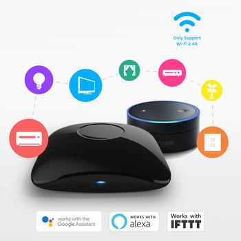 Broadlink RM4 Pro RM4 mini uniwersalny inteligentny pilot WiFi + IR + RF inteligentna automatyka domowa współpracuje z Alexa Google Home inteligentnego domu tanie i dobre opinie Rohs CN (pochodzenie) UE Wtyczka Gotowa do działania MIGAJĄCE Do jeżdżenia po twarzy WEJŚCIE Broadlink RM4 mini 12 kanałów i up