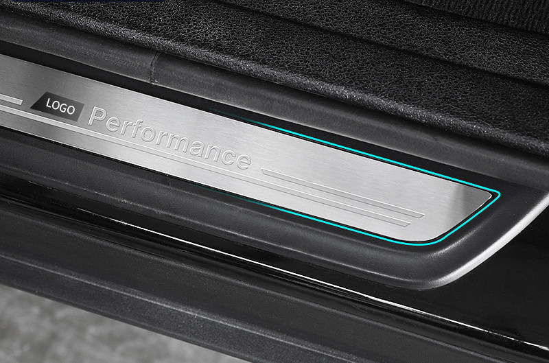 Pédales de bienvenue pour porte de voiture en acier inoxydable pour BMW X1 X3 X5 X6 E60 E90 F25 F30 F32 F34 F35 protecteurs de seuil accessoires de plaque de seuil - 4