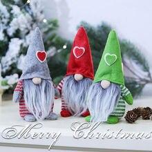 Новейшая Горячая Рождественская игрушка Санта-Клаус, рождественский стол, украшение стола для дома, модные Плюшевые настенные вещи