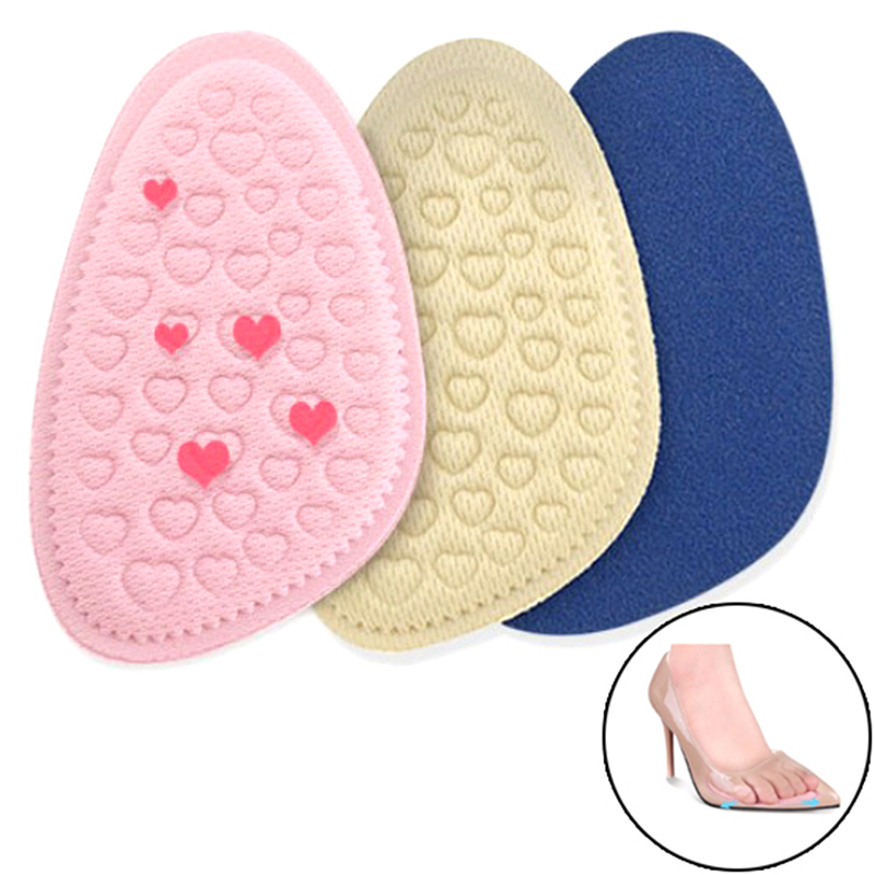 Anti-slip 1pair Forefoot Insoles Shoes Sponge Pads High Heel Soft Insert Foot Protection Pain Relief Women Shoes Insert Cushion