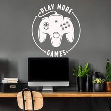 Vinyl Art Poster Creative play games Wall Sticker Diy Wallpaper For Kids Rooms Background Wall Art Decal XL81